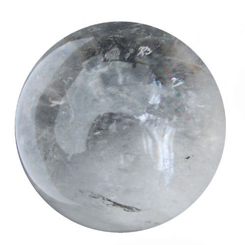 Rock Quartz Crystal Ball Scrying Gazing Fortune Telling Sphere 58mm 270g CB30